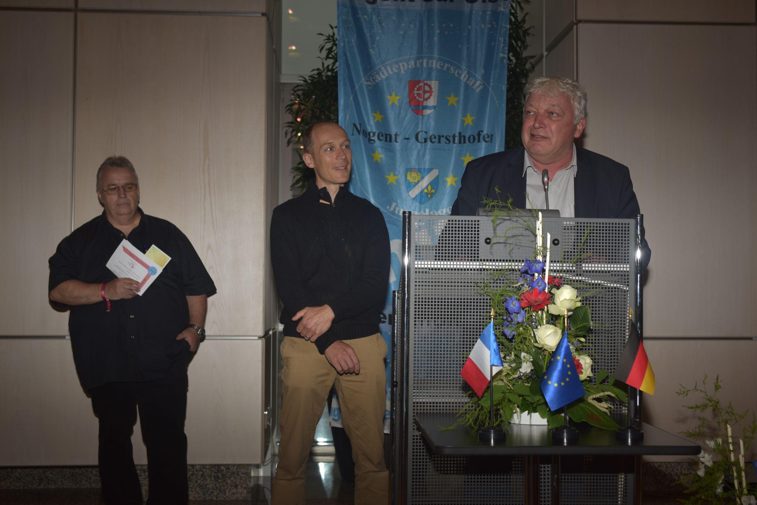 Nogents Bürgermeister Dardenne bedankte sich für den herzlichen Empfang