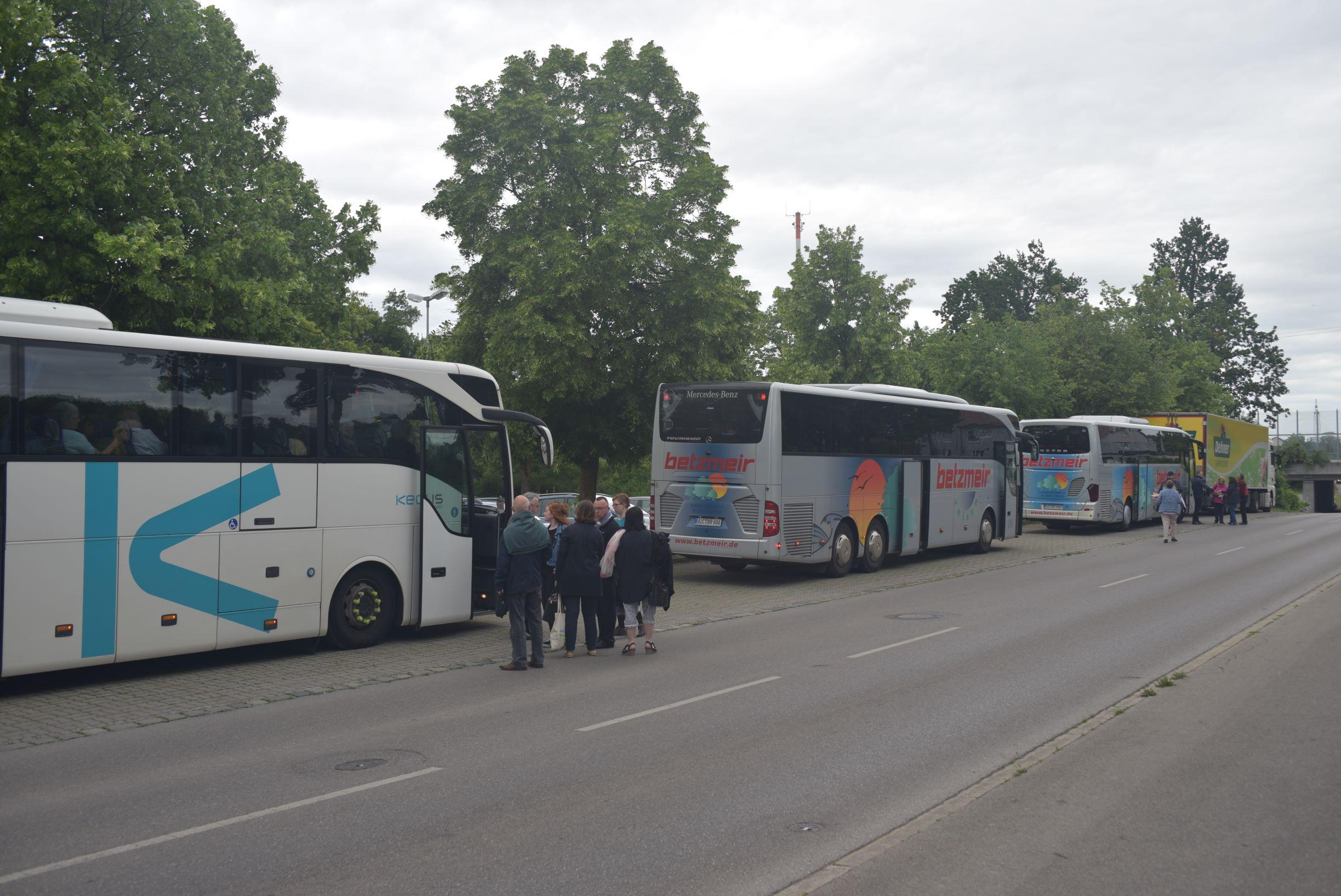 Am Samstag fuhren Gäste und Gastgeber zusammen nach Landsberg am Lech