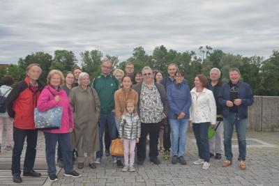 In Kleingruppen erkundete man mit einem Stadtführer die Stadt am Lech