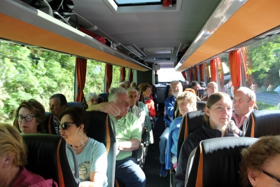 Unterwegs im Bus