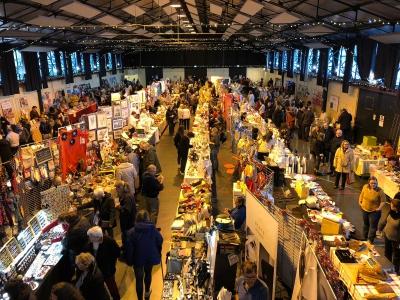 Der Markt war sehr gut besucht...