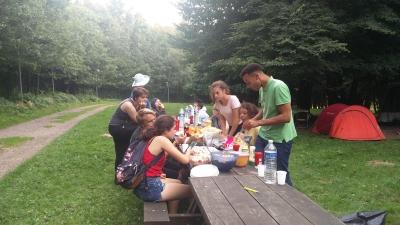 Beim Campen