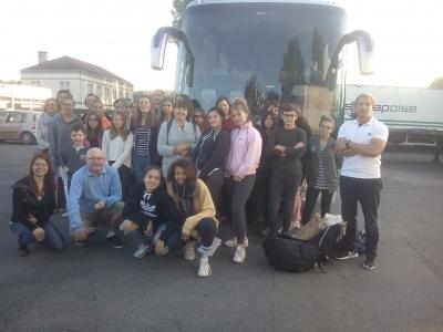 Gruppenfoto vor der Abreise